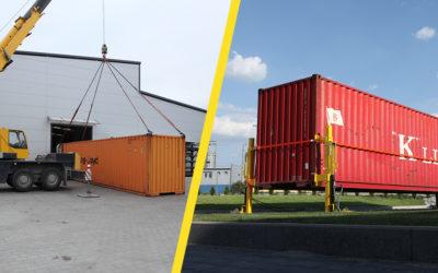 Container lifting jacks vs standard cranes